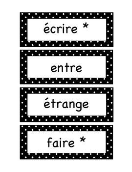 Grade 3 Polka Dots WORD WALL / MUR DE MOTS - FRENCH