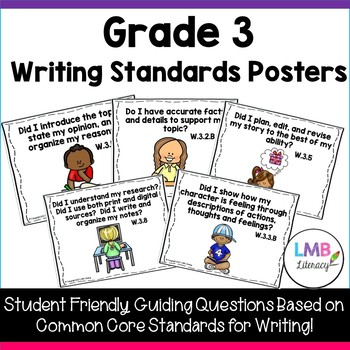 Common Core Standards Posters for Writing-Grade 3