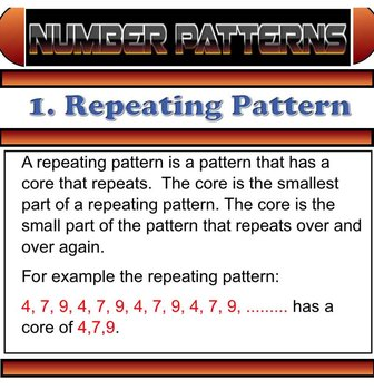 Grade 3 and 4 Math Number Patterns Smartboard File 26 Pages