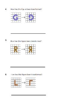 Grade 3: Geometry: Reflections, Rotations, Translations