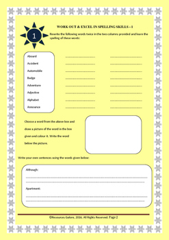Grade 3: Interactive Notebook for Spelling & Vocabulary