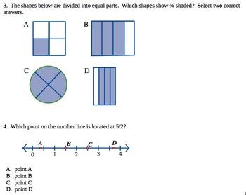 3rd Grade math common core practice test PBA