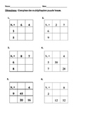 Grade 3 multiplication division puzzle boxes 4 worksheets