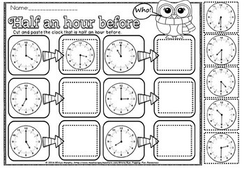 time/half past and before/Grade 2-4