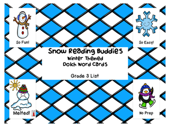 Grade 3 winter themed Dolch word game