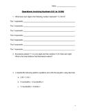 4th 5th 6th Grade Ontario Curriculum Operations Math Test