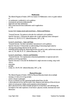Grade 4/5 Interdisciplinary Electricity Unit Plan