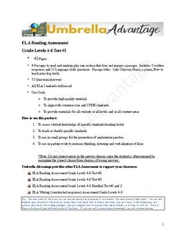 Grade 4-6 Reading Assessment #2