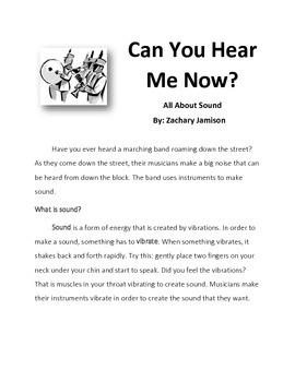 Grade 4-8 Sound Investigation Reading Guide