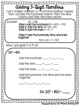 Grade 4 Addition Strategies- 3&4 Digit Regrouping (Using Front End Addition)