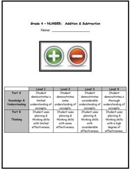 Grade 4 Addition & Subtraction Quiz