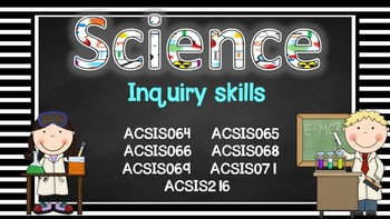 Grade 4 All SCIENCE Learning Goals/success criteria posters Aust Curric.