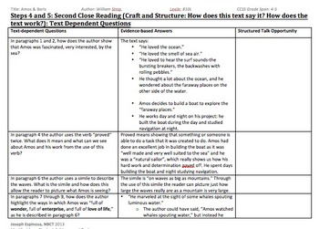 Grade 4 Amos & Boris Close Reading Unit
