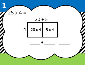 Grade 4 Differentiated Area Model Multiplication Task Cards