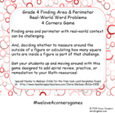 Grade 4 Area and Perimeter Real-World Problems 4 Corners Game