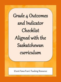 Grade 4 Arts Education Outcome Indicators Checklist