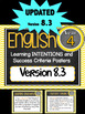 Grade 4 BUNDLE - All SUBJECTS Learning INTENTIONS Australian Curriculum