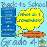 Grade 4 Back to  School Bundle - Assessment, Target Setting and Teaching