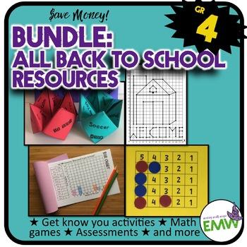 Grade 4: Back to School Math Bundle