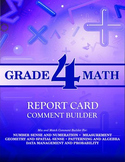 Grade 4 Bundle: Math and Language Comment Builder