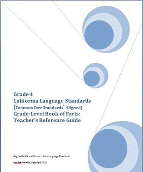 Grade 4 CA Language Standards, Grade-Level Book of Facts:  Teacher's Guide