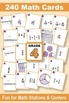 Fractions & Mixed Numbers With Models: Grade 4 MATH CARD GAMES GALORE BUNDLE