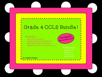 4th Grade Common Core Math Bundle!