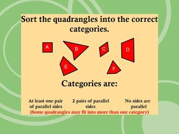 Grade 4 CCSS Everyday Math Unit 1 Jeopardy: Polygons & More Promethean Flipchart