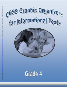 Grade 4 CCSS Graphic Organizers for Informational Texts