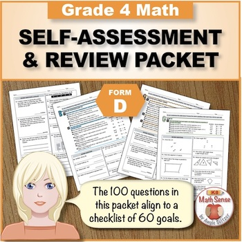 Grade 4 CCSS Math Self-Assessment and Review Packet ~ Form D