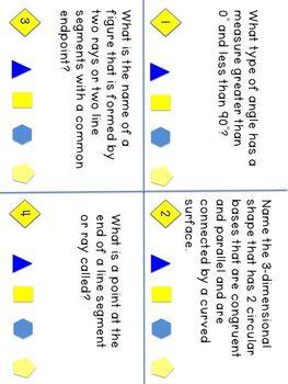 Grade 4 CCSS Math Vocabulary Task Cards