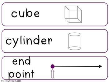 Grade 4 CCSS Math Vocabulary Word Wall Cards
