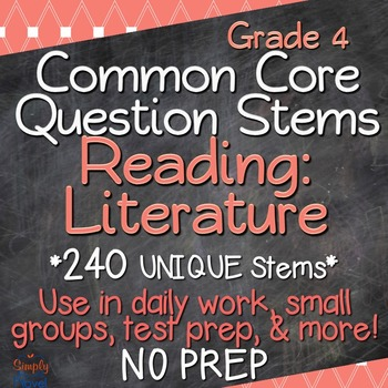 Reading: Literature Annotated Standards and Question Stems - Grade 4