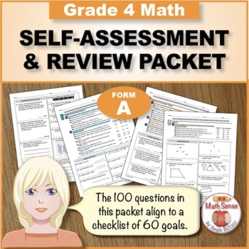 Grade 4 CCSS Math Self-Assessment and Review Packet ~ Form A