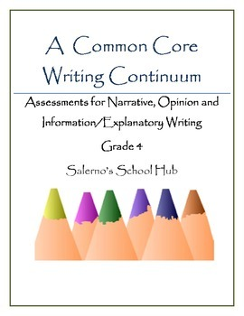 Grade 4 CCSS Writing Continuum