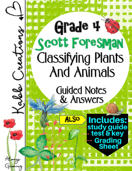 Classifying Plants and Animals Guided Notes and More! Grad