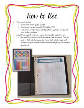 Grade 4 Common Core Gradebook *Editable*