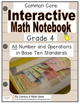 Grade 4 Common Core Interactive Notebook Number and Operations in Base Ten