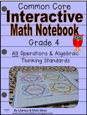 Grade 4 Common Core Interactive Notebook Operations and Al