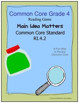 Grade 4 Common Core Literacy Center RI.4.2