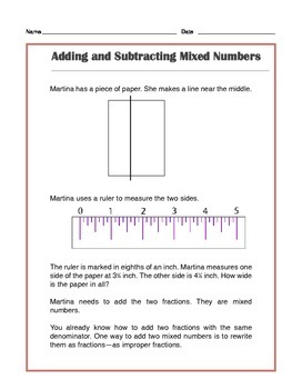 Grade 4 Common Core Math: Add & Subtract Mixed Numbers - Tutorial & Practice