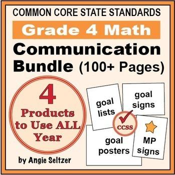Grade 4 Common Core Math Communication Bundle (Posters, Go