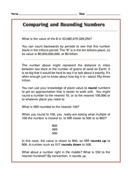 Grade 4 Common Core Math: Comparing and Rounding Numbers - Tutorial & Practice