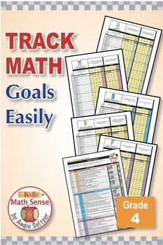 Grade 4 Common Core Math EXCEL Goal Tracker Spreadsheet with Paper Trail