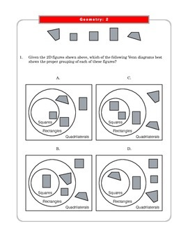 Grade 4 Common Core Math: Geometry 4.G.A.2 Worksheets #1-3