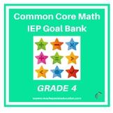 Grade 4 Common Core Math IEP Goal Bank