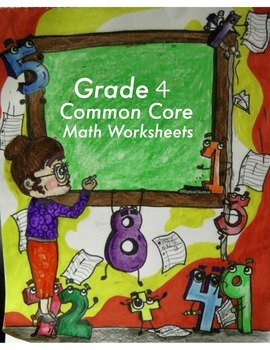 Grade 4 Common Core Math: Numbers & Operations-Fractions 4.NF.A-C Worksheet #1-7