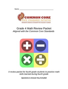 Grade 4 Common Core Math Review Packet