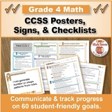 Grade 4 CCSS Common Core Math Standards Posters, Signs, &