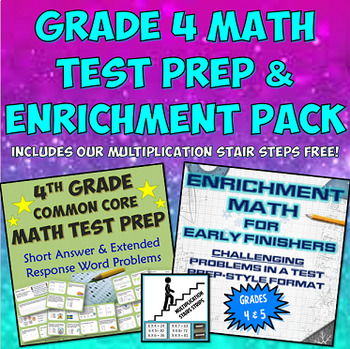 Grade 4 Common Core Math Test Prep and Enrichment Pack for Early Finishers